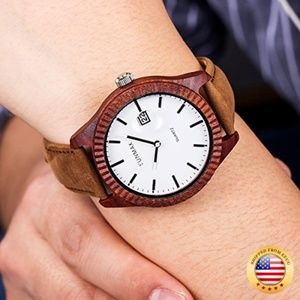 Wooden Wrist Watches for Men or Women-Red